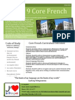 core french 9 course outline
