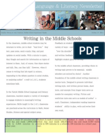 middle school l  l newsletter writing