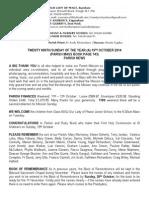 19th October 2014 Parish Bulletin