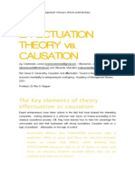 EFFECTUATION THEORY vs. CAUSATION By