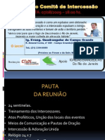 2a. Reunião Comite Intercessão - Reinhard Bonnke - Rio de Janeiro.ppt