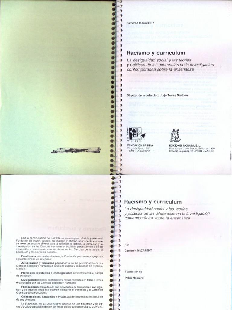 Libro Mccarthy - Racismo Y Curriculum.pdf