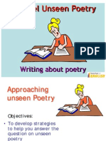 Edexcel Unseen Poetry GCSE English Literature