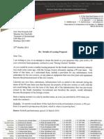 Lease Letter Nicholls