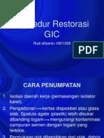 prosedur restorasi gic.ppt