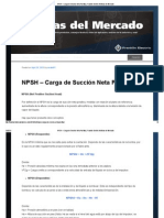 NPSH – Carga de Succión Neta Positiva _ Franklin Electric Noticias del Mercado.pdf
