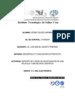 REPORTE DE 2 IDEAS DE INVESTIGACION DE PELI Y ARTICULO.docx
