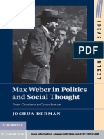 Max Weber in Politics and Social Thought-Joshua Derman