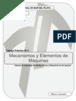 Cálculo de engranaje de dientes rectos y Reaccione en los apoyos.pdf