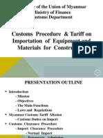 Myanmar Customs