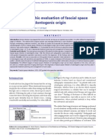 Ultrasonographic Evaluation of Fascial Space