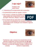 ojo rojo oftalmologia.ppt