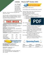 newsletter week of 201014