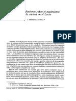 Algunas reflexiones sobre el nacimiento de la ciudad en el Lacio.PDF
