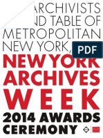 A.R.T. New York Archives Week - 2014 Awards Ceremony Journal