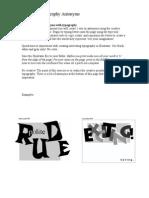 Illustrator Typography 4
