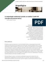 La arqueología conductual a prueba_ un análisis a partir del concepto de posición teórica _ Dimensión Antropológica.pdf