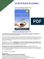 Livre gratuit  Le kit de survie du createur d'entreprise