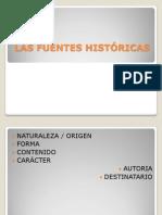 LAS clasificacion de las FUENTES HISTÓRICAS.ppt