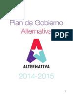 Plan de Gobierno 2014-2015
