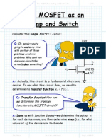 The MOSFET as an Amp and Switch