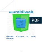 Manuale d'Utilizzo Di Music Manager