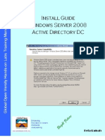 Install Guide Windows Server 2008 Active Directory Domain Controller  v1.0