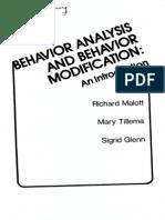 Behavior Analysis and Behavior Modification (Malott-tillema-glenn 1978)