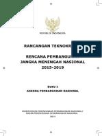 Rancangan Teknokratik  RPJMN 2015-2019 Buku I Agenda Pembangunan Nasional
