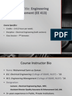 Engineering Mgmt - Lecture # 1
