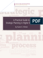 A Practical Guide to Strategic Planning in Higher Education
