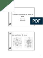 Anatomie Rachis Diaporama p. Gillet