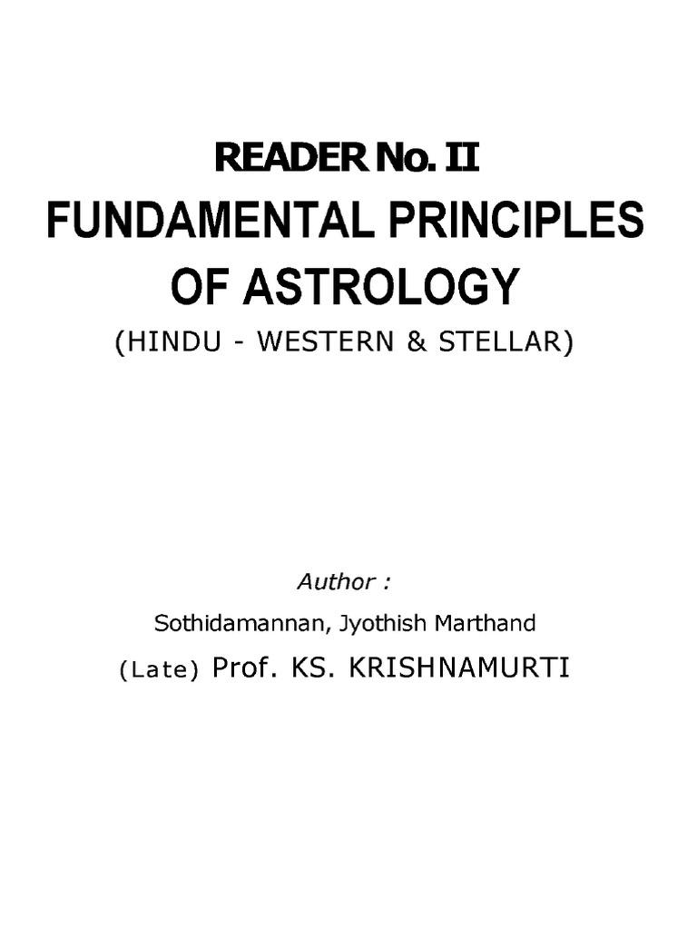 Jyotish-KP reader 2-Fundamental Principles of Astrology | Planets In