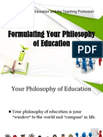 Formulating Your Philosophy of Education