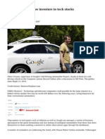 Intelligent cars draw investors to tech stocks