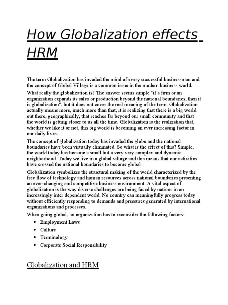 human resource management outsourcing pdf