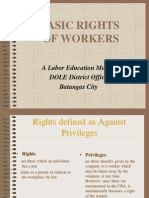 Basic Rights of Workers - A Labor Education Module