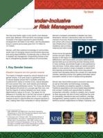Gender Inclusive Disaster Risk Management 0