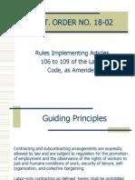 Department Order No. 18 - 02