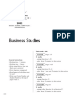 2012 HSC Exam Business Studies