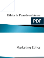 Unit II - Ethics in Functional Areas