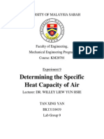 Determine specific air capacity using air conditioning unit