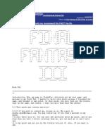 FF3 Tutorial