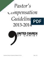 2013 Pastors Compensation Guidelines
