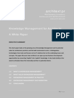 Knowledge Management for Architects - White Paper