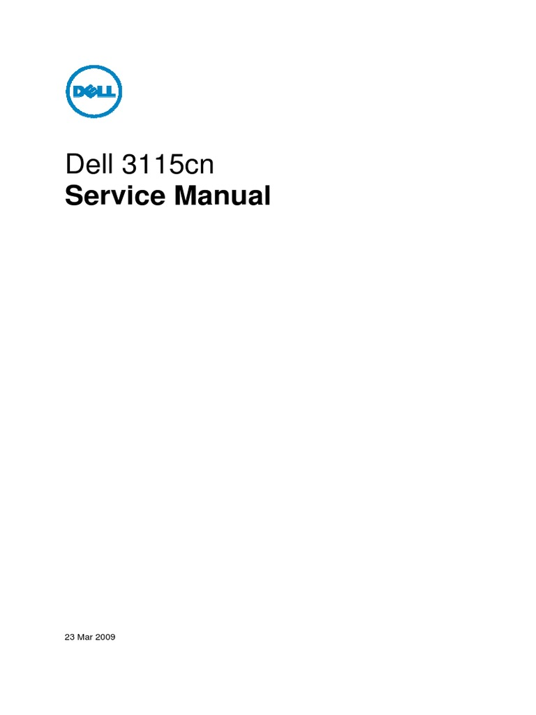 Dell 3115cn service manual paper troubleshooting fandeluxe Images