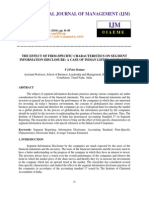 The Effect of Firm Specific Characteristics on Segment Information Disclosure a Case of Indian Listed Companies