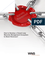 How to Develop a Closed Loop Warranty Management Ecosystem to Boost Revenues?