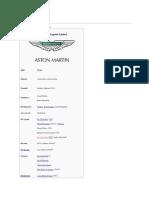 History of Austin Martin