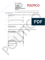 141017 Politico Topline October 2014 Survey t 1605 Watermark